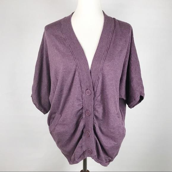 30c4169c10 CASLON purple v neck cardigan sweater! Oversized